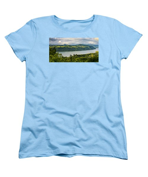 Columbia Gorge Scenic Area Women's T-Shirt (Standard Cut) by Albert Seger