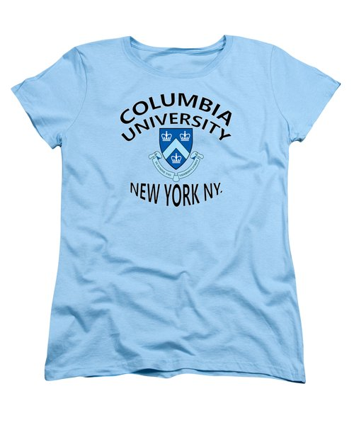 Columbia University New York Women's T-Shirt (Standard Cut) by Movie Poster Prints