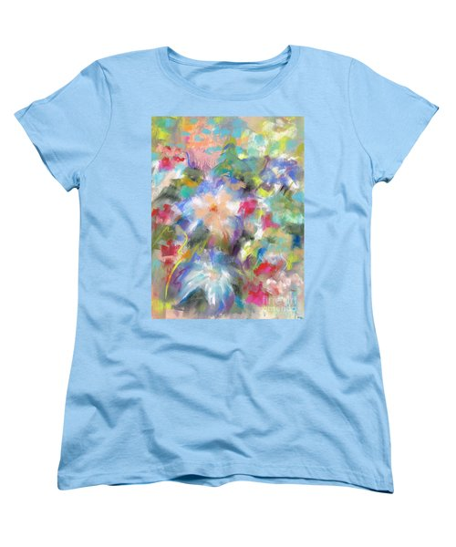 Columbine In The Wildflowers Women's T-Shirt (Standard Cut) by Frances Marino