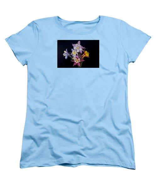 Women's T-Shirt (Standard Cut) featuring the photograph Columbine Medley by Gary Lengyel
