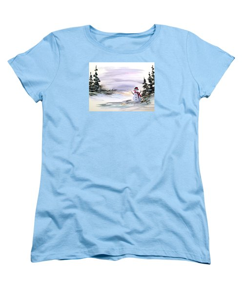 Women's T-Shirt (Standard Cut) featuring the painting Come And Play With Me by Dorothy Maier