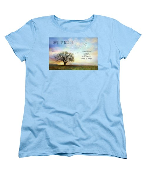 Women's T-Shirt (Standard Cut) featuring the photograph Come Fly With Me by Lori Deiter