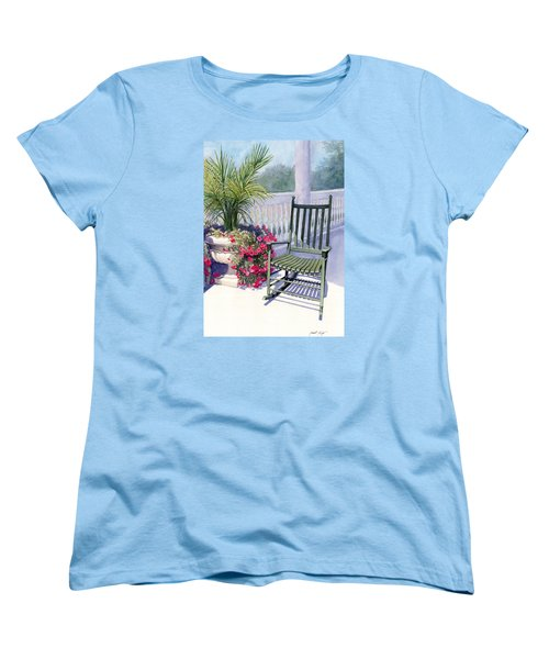 Women's T-Shirt (Standard Cut) featuring the painting Come Sit A Spell by Janet King