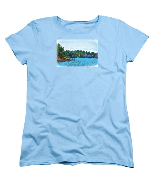 Women's T-Shirt (Standard Cut) featuring the digital art Coming Into Friday Harbor by Kirt Tisdale
