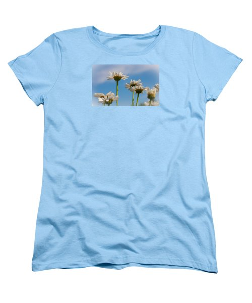 Coming Up Daisies Women's T-Shirt (Standard Cut) by Christina Lihani