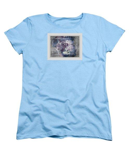 Common Buckeye In Blues Women's T-Shirt (Standard Cut) by Karen McKenzie McAdoo