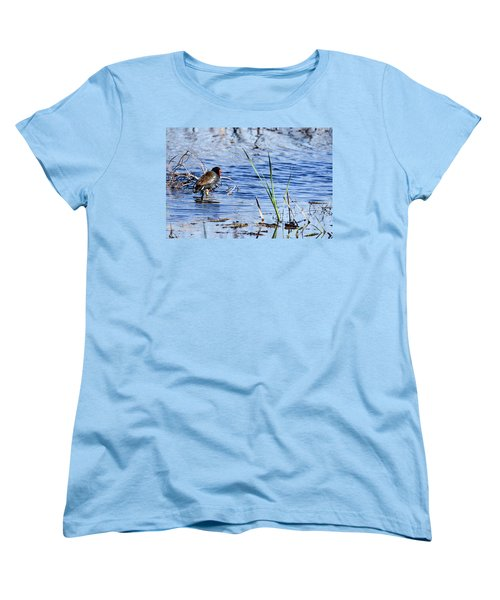 Women's T-Shirt (Standard Cut) featuring the photograph Common Gallinule by Gary Wightman