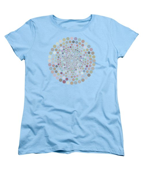 Women's T-Shirt (Standard Cut) featuring the painting Vortex Circle - Gray by Hailey E Herrera