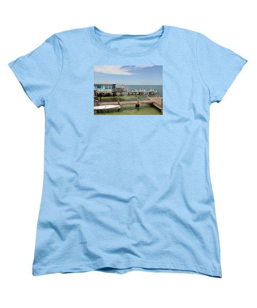 Conch Key Blue Cottage Women's T-Shirt (Standard Cut)