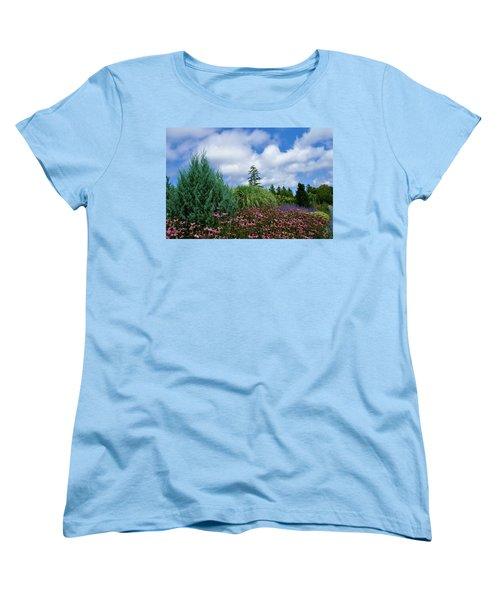 Coneflowers And Clouds Women's T-Shirt (Standard Cut)