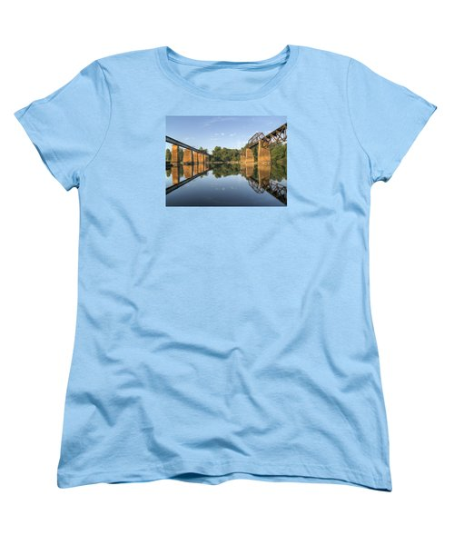Congaree River Rr Trestles - 1 Women's T-Shirt (Standard Cut) by Charles Hite