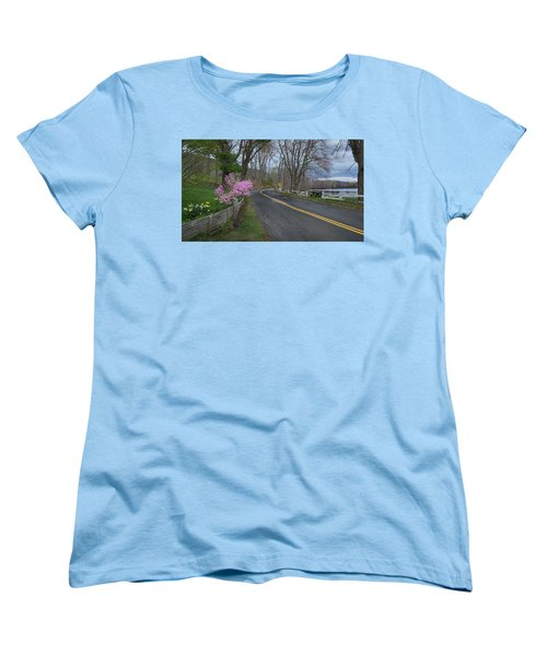 Women's T-Shirt (Standard Cut) featuring the photograph Connecticut Country Road by Bill Wakeley