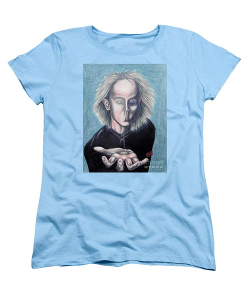 Women's T-Shirt (Standard Cut) featuring the drawing Consciousness by Michael  TMAD Finney