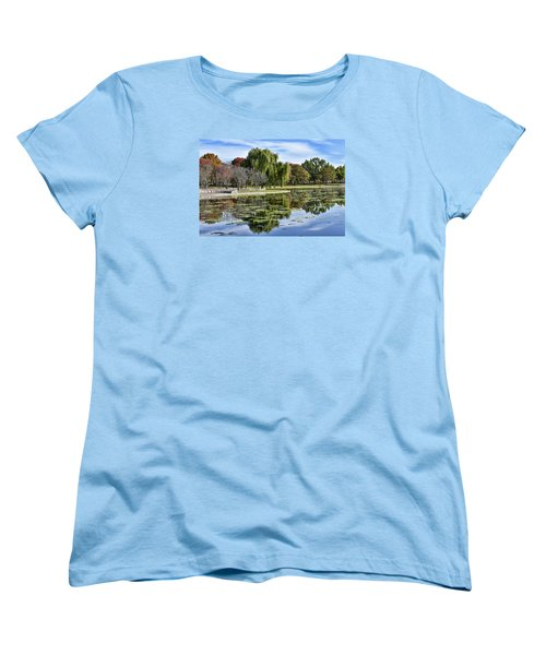 Constitution Gardens On The National Mall Women's T-Shirt (Standard Cut) by Brendan Reals