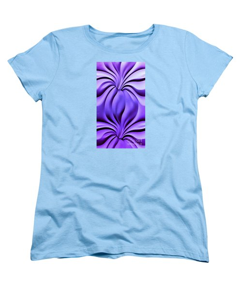 Women's T-Shirt (Standard Cut) featuring the photograph Contemplation In Purple by Roberta Byram