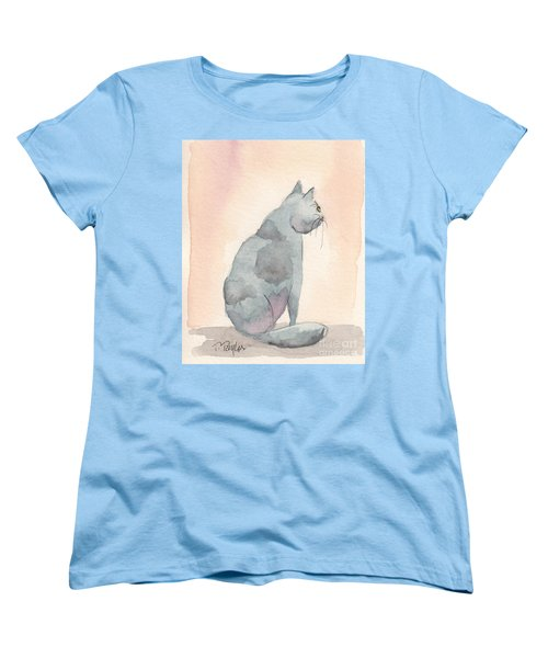 Women's T-Shirt (Standard Cut) featuring the painting Contemplation by Terry Taylor