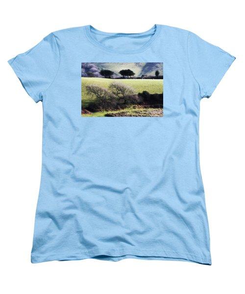 Contrast Of Trees Women's T-Shirt (Standard Cut) by Gary Bridger