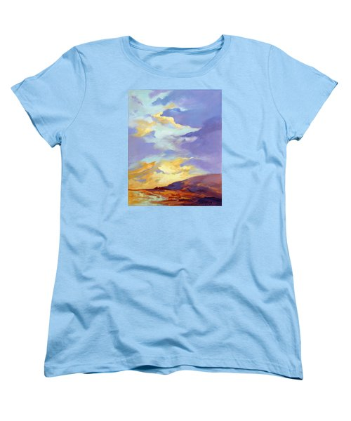 Women's T-Shirt (Standard Cut) featuring the painting Convergence by Rae Andrews