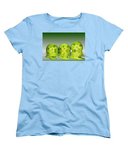Cool As A Cucumber Slices Women's T-Shirt (Standard Cut)