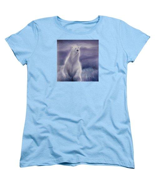 Women's T-Shirt (Standard Cut) featuring the painting Cool Bear by Allison Ashton