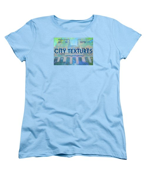 Women's T-Shirt (Standard Cut) featuring the mixed media Cool City Textures by John Fish