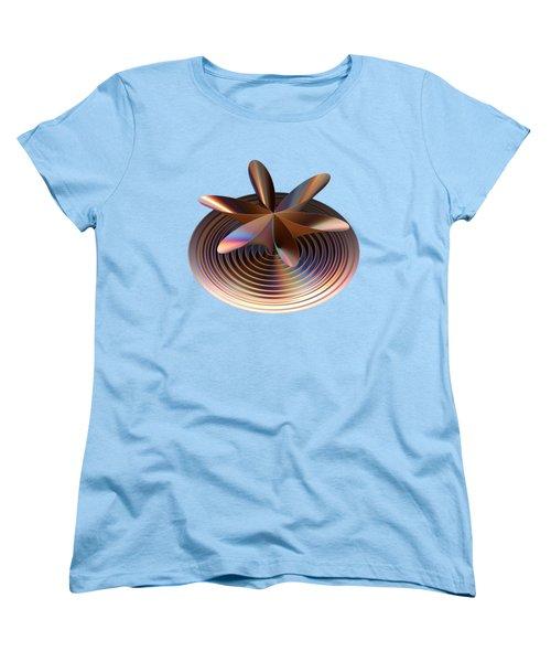 Women's T-Shirt (Standard Cut) featuring the digital art Copper Tones by Linda Phelps