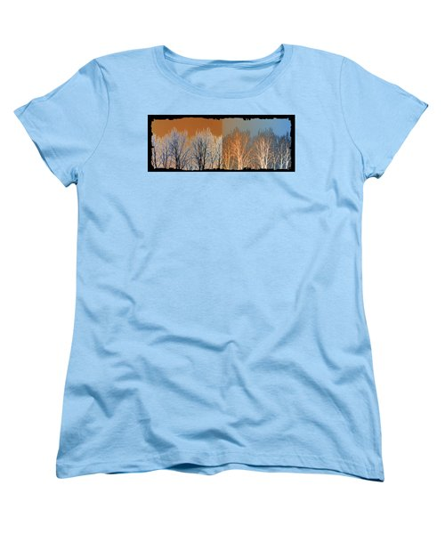Women's T-Shirt (Standard Cut) featuring the digital art Coppertone Fusion by Will Borden