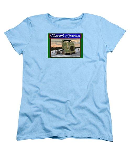 Corbitt Christmas Card Women's T-Shirt (Standard Cut) by Stuart Swartz