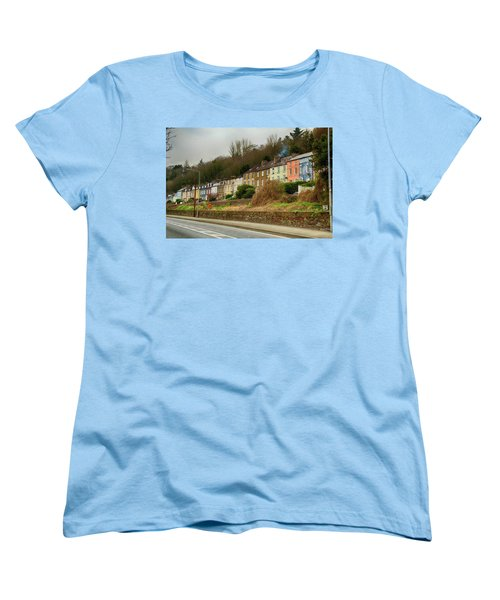 Women's T-Shirt (Standard Cut) featuring the photograph Cork Row Houses by Marie Leslie