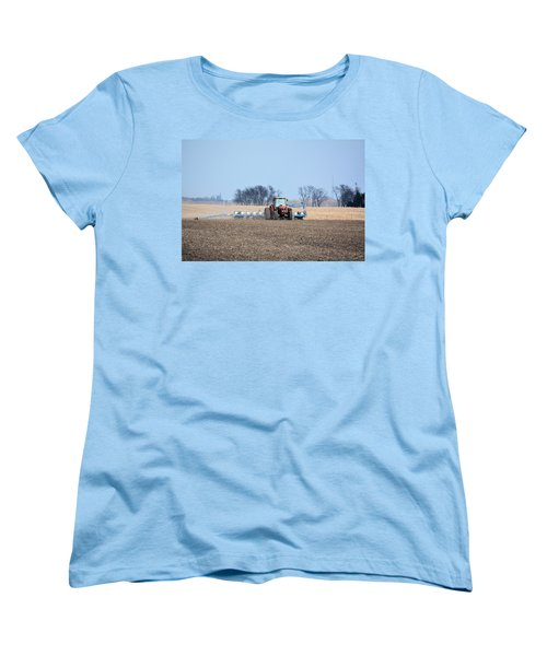 Corn Planting Women's T-Shirt (Standard Cut) by Bonfire Photography
