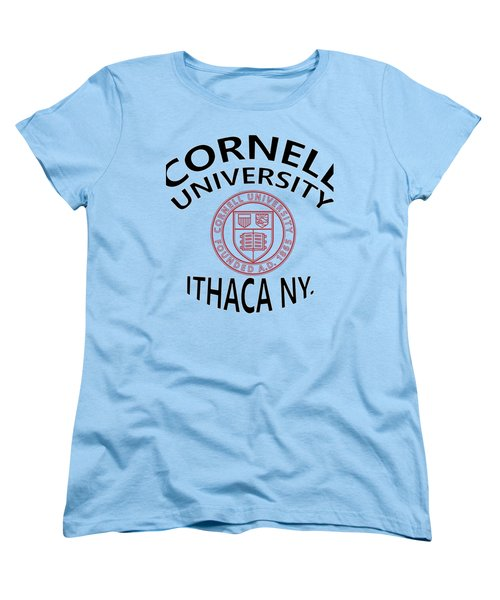 Cornell University Ithaca N Y Women's T-Shirt (Standard Cut) by Movie Poster Prints