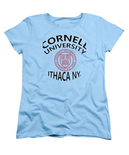 Cornell University Ithaca N Y Women's T-Shirt (Standard Cut) by Movie Poster Prints