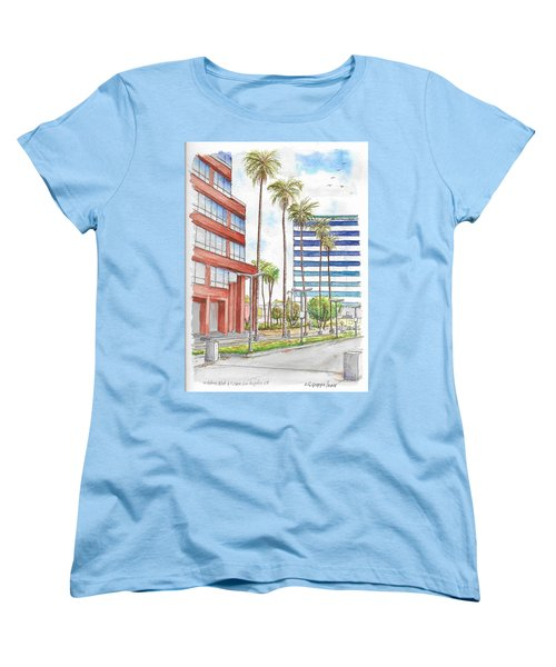 Corner Wilshire Blvd. And Curson, Miracle Mile, Los Angeles, Ca Women's T-Shirt (Standard Cut) by Carlos G Groppa