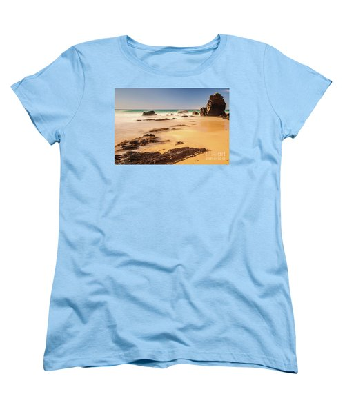 Corunna Point Beach Women's T-Shirt (Standard Cut) by Werner Padarin