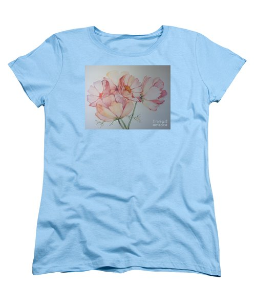 Women's T-Shirt (Standard Cut) featuring the painting Cosmea by Iya Carson
