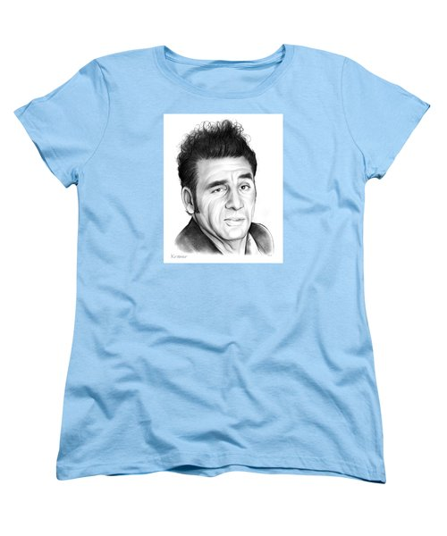 Cosmo Kramer Women's T-Shirt (Standard Cut) by Greg Joens