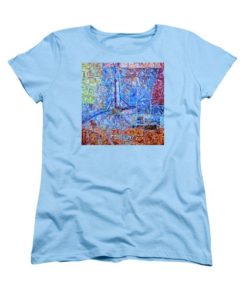 Women's T-Shirt (Standard Cut) featuring the painting Cosmodrome by Dominic Piperata