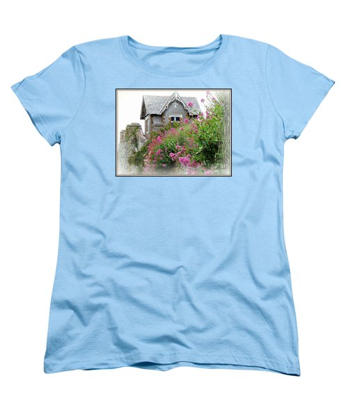 Cottage On The Hill Women's T-Shirt (Standard Cut) by Anne Gordon