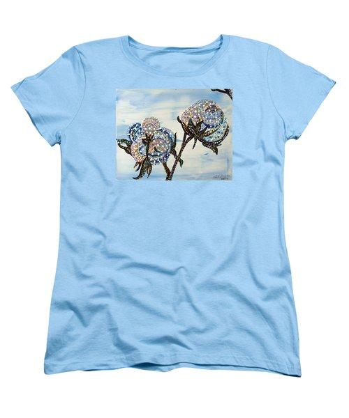 Cotton Women's T-Shirt (Standard Cut) by Erika Pochybova