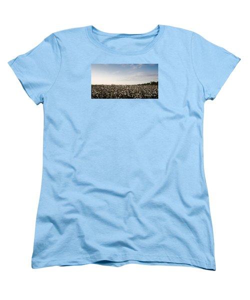 Cotton Field 2 Women's T-Shirt (Standard Cut) by Andrea Anderegg