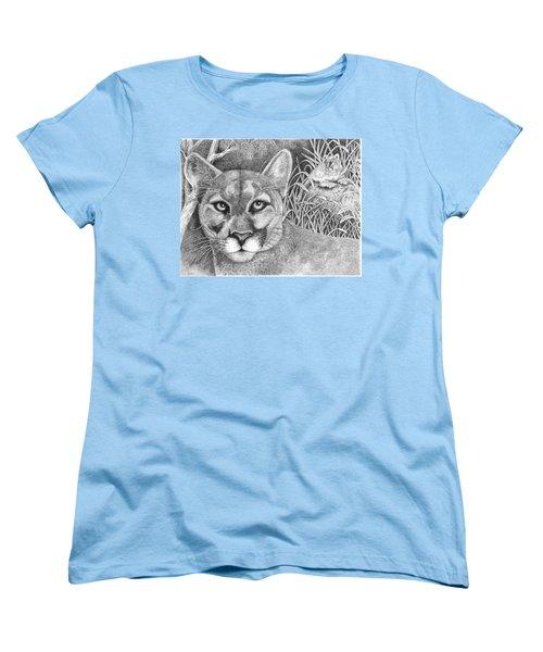 Cougar Women's T-Shirt (Standard Cut) by Lawrence Tripoli