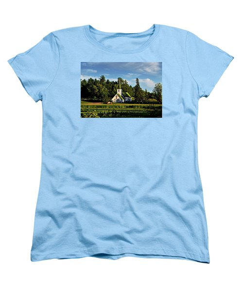 Country Church 003 Women's T-Shirt (Standard Cut) by George Bostian