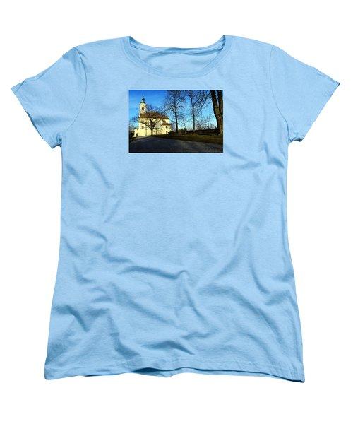 Country Church Women's T-Shirt (Standard Cut) by Christian Slanec