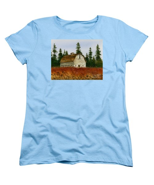 Women's T-Shirt (Standard Cut) featuring the painting Country Landscape by James Williamson