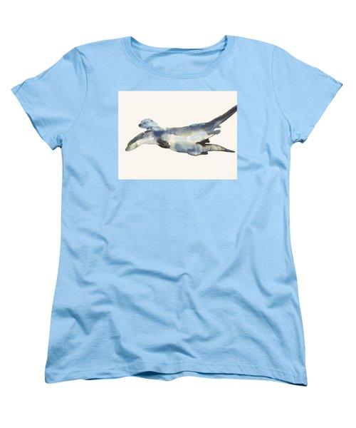 Courting Otters  Women's T-Shirt (Standard Cut) by Mark Adlington