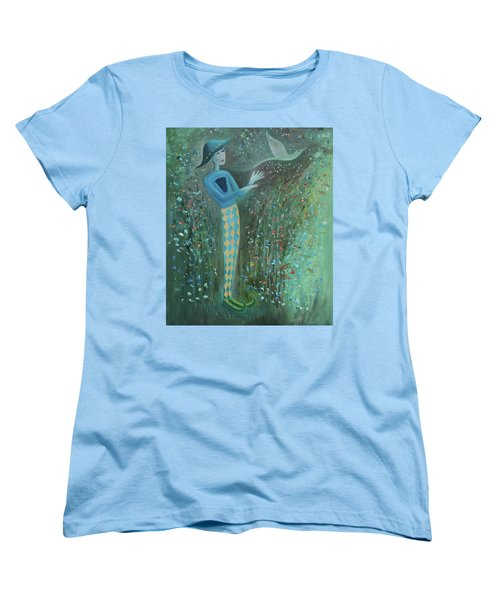Women's T-Shirt (Standard Cut) featuring the painting Cousin Good Shoes Sentinel by Tone Aanderaa