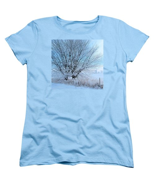 Covered In Ice Women's T-Shirt (Standard Cut) by Heather King