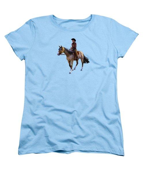 Women's T-Shirt (Standard Cut) featuring the digital art Cowboy Blue by Methune Hively