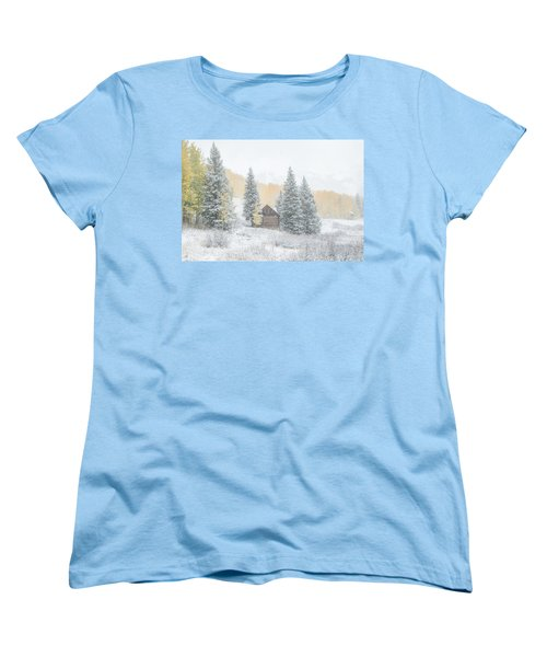 Women's T-Shirt (Standard Cut) featuring the photograph Cozy Cabin by Kristal Kraft