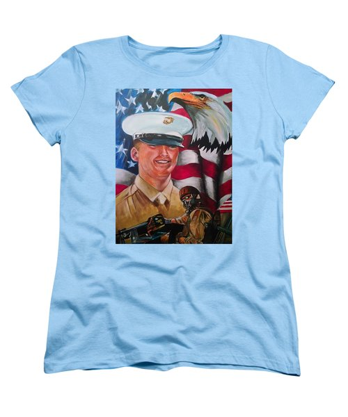 Cpl. Drown Women's T-Shirt (Standard Cut) by Ken Pridgeon